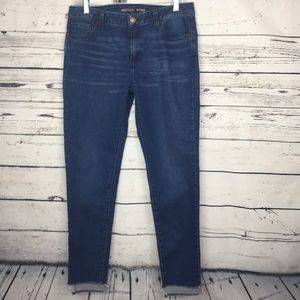 Michael Kors Izzy Skinny Jeans  with Frayed Hem
